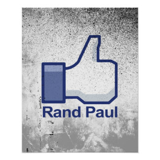 I Like Rand Paul Thumbs up Poster