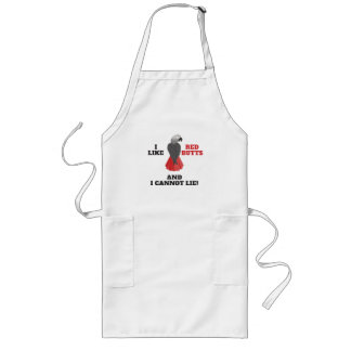 I Like Red Butts and I Cannot Lie African Grey Par Long Apron