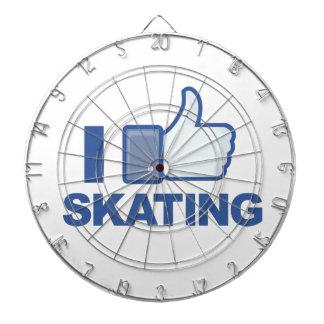I LIKE SKATING facebook LIKE thumb up graphic Dart Board