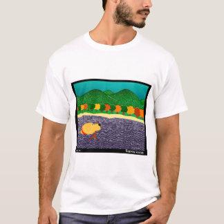 I like Sticks-Autumn Yellow Lab, Stephen Huneck T-Shirt