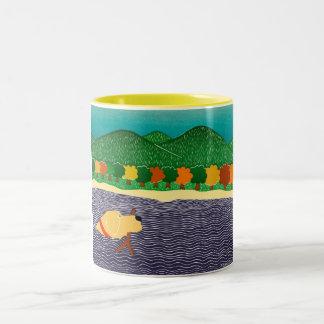 i like sticks--Yellow tone Mug-Stephen Huneck Two-Tone Coffee Mug