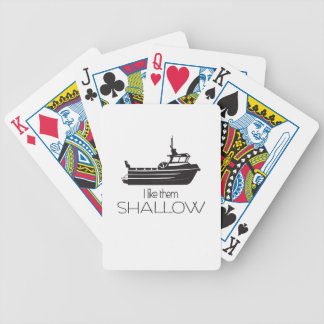 I Like Them Shallow--Gill Net Fishing Bicycle Poker Deck