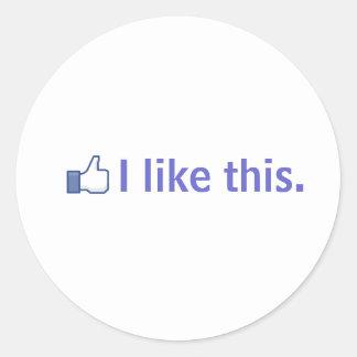 I like this. round sticker