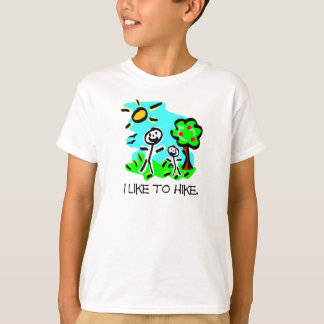 I Like to Hike Stick Figure T-shirts