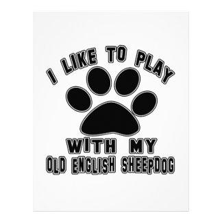 I like to play with my Old English Sheepdog. Custom Letterhead
