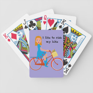 I like to ride my bike bicycle playing cards