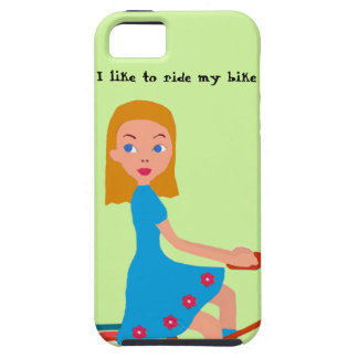 I like to ride my bike iPhone 5 cases