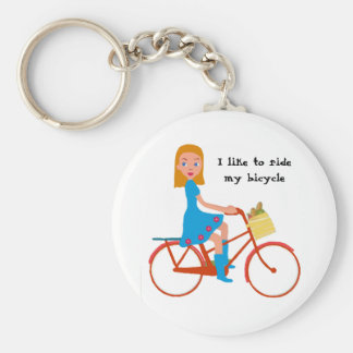 I like to ride my bike keychain