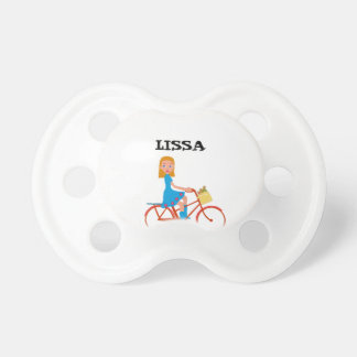 I like to ride my bike pacifier