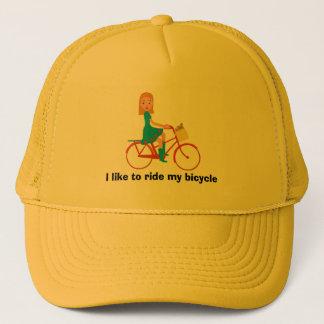 I like to ride my bike trucker hat