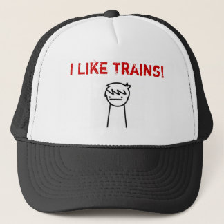I like Trains ASDF MOVIE Trucker Hat