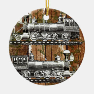 I Like Trains Ceramic Ornament