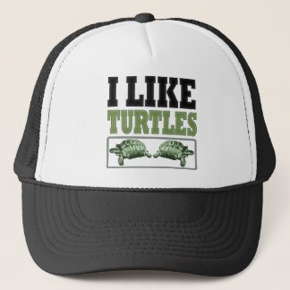 I Like Turtles Big Text Trucker Hat