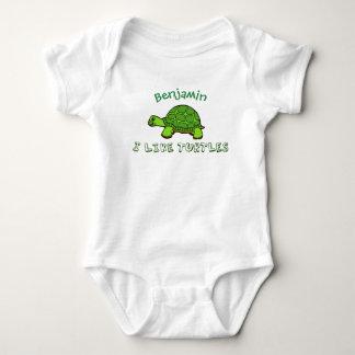 I Like Turtles Cute Baby Bodysuit
