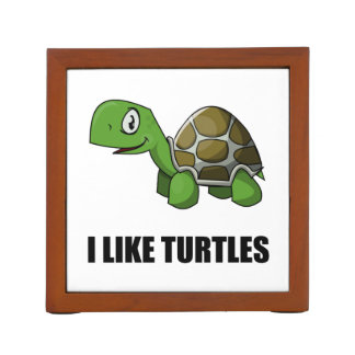 I Like Turtles Desk Organizer