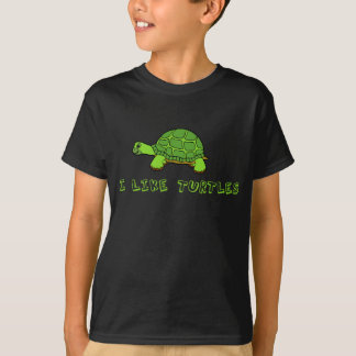 I Like Turtles Kids T-Shirt