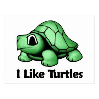 I Like Turtles Postcard