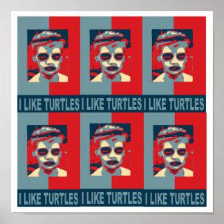 I Like Turtles Poster. Poster