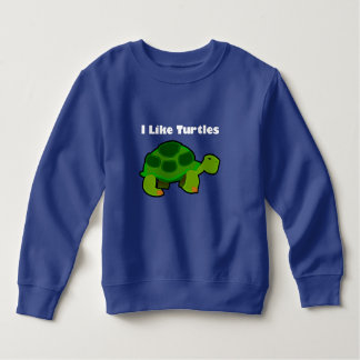 I Like Turtles - Toddler Fleece Sweatshirt Sweatshirt