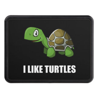I Like Turtles Trailer Hitch Cover