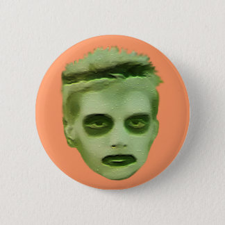 I Like Turtles Zombie Kid - Badge 2 Inch Round Button