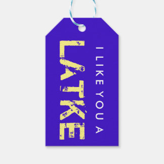 I Like You A Latke Hanukkah Gift Tag Pack Of Gift Tags