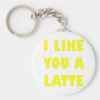 I Like You a Latte Basic Round Button Keychain