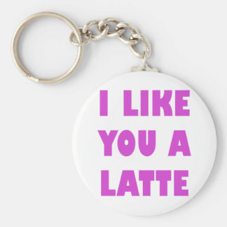 I Like You a Latte Keychain