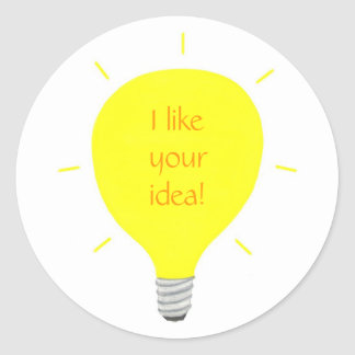I like your idea, light bulb affirmation stickers