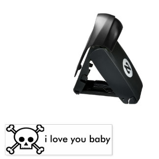 i liove you until death pocket stamp