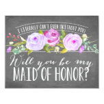 "I Literally Can't Even | Maid Of Honour 4.25"" X 5.5"" Invitation Card"