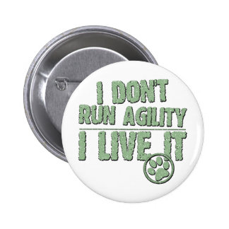 I Live Agility 2 Inch Round Button