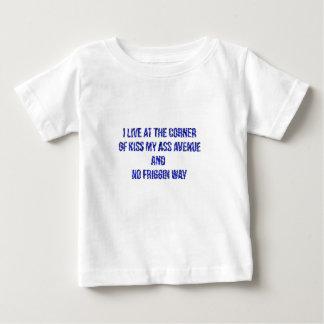 I live at the corner of... t-shirts