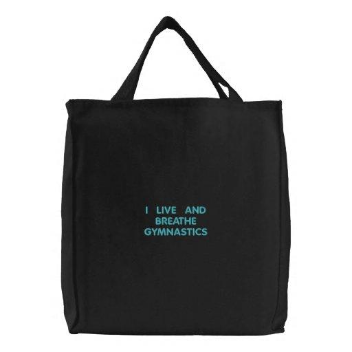 I live for Gymnastics Canvas Bags