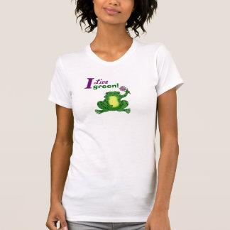 I Live green! Funny Frog - Customizable T-shirt
