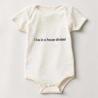 I live in a house divided baby bodysuit