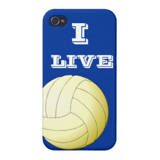 I Live Volleyball  iPhone 4 iPhone 4 Cases