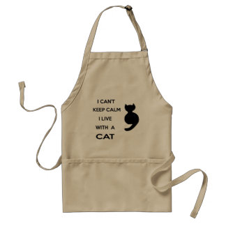 i live with a cat standard apron