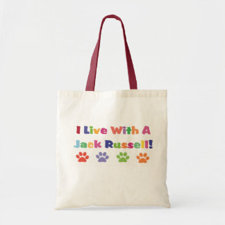 I Live With A Jack Russell Tote Bag