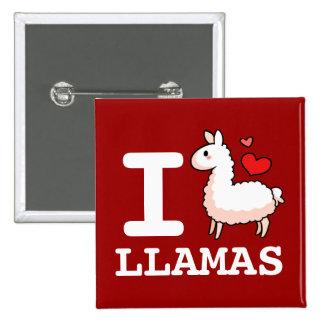 I Llama Llamas Pinback Buttons