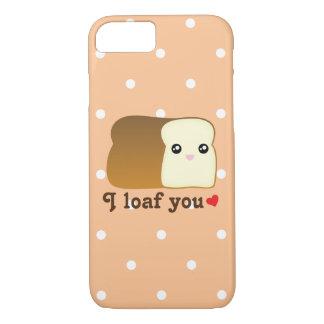 I Loaf You Cute Kawaii Bread Cartoon Food Pun iPhone 7 Case