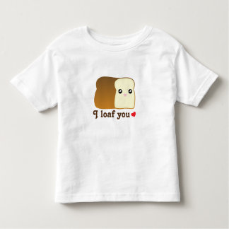 I Loaf You Cute Kawaii Bread Cartoon Unisex Baby Toddler T-shirt