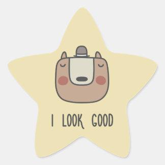 I Look Good Star Sticker
