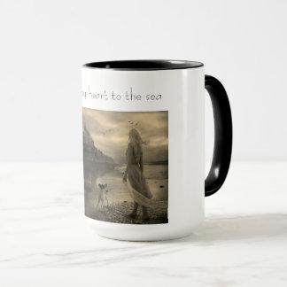 I lost my heart to the sea mug