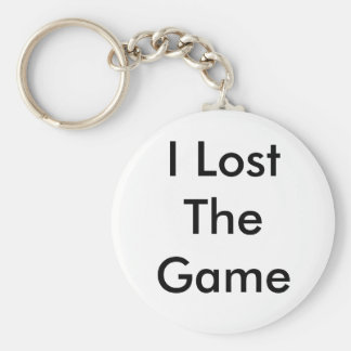I Lost The Game. Basic Round Button Keychain