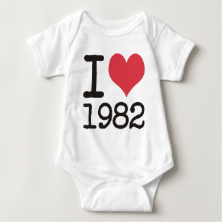 I Love1982 Products & Designs! Baby Bodysuit