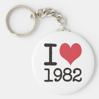 I Love1982 Products & Designs! Keychain