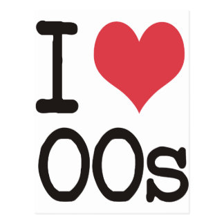 I Love 00s Products & Designs! Postcard