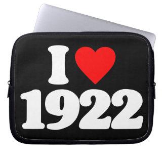 I LOVE 1922 COMPUTER SLEEVE