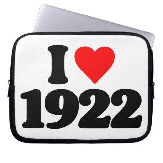 I LOVE 1922 LAPTOP SLEEVE